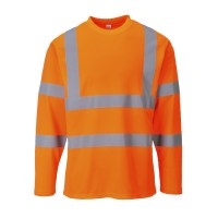 T-shirt Hi-Vis manches longues orange PORTWEST